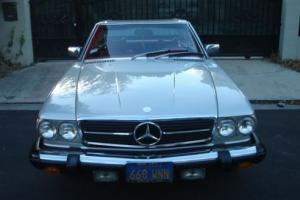 1979 MERCEDES 450SL 75KMILES SILVER/RED INTERIOR