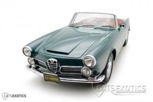 Alfa Romeo Spyder 2600 Restored New Leather Fresh Paint BRG