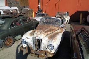 2 SUNBEAM TALBOT CABRIOLET PROJECTS STORED 46 YEARS BLACK CALIF PLATES 4 REST0