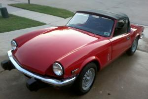 1980 Triumph Spitfire Convertible 2-Door Red