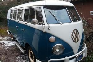 Volkswagen bus split window tin top walk thru with Westphalia kit 1966