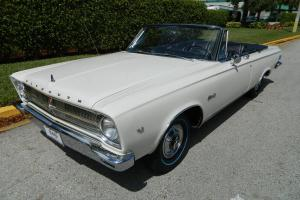 1965 PLYMOUTH SATELLITE CONVERTIBLE FACTORY A/C PW PS PB 318 AUTO 7955 MILES!!!
