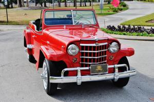 Sweet and must be seen 1950 Willys Jeepster Convertible restored none finer wow
