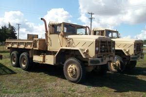 MILITARY TRUCKS (2) M939 636 MILES AND 10,315 MILES, CUMMINS DIESEL, 5 SPEED A/T