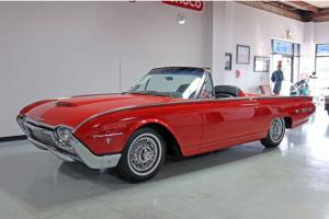 1962 Ford Thunderbird Sports Roadster Convertible Beautiful Rangoon Red PS/PB