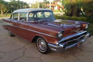 1957 CHEVROLET BEL AIR  V-8  283  4 DOOR SEDAN