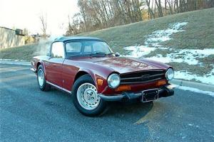 1974 Triumph TR6 in Carmine Red w 81K miles