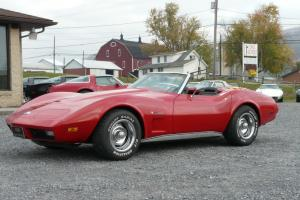 1974 Red Corvette Convertible Black Leather Interior Numbers Matching!
