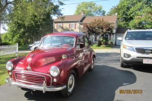 1960 Morris Minor 1000, maroon, very good condition, 2 door, runs and drives