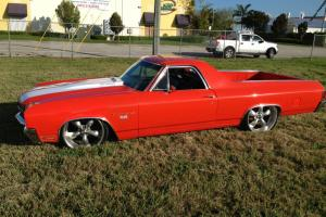1970 EL CAMINO 454 SS RESTOMOD PROSTREET BAGGED WITH AC 450HP AMAZING AIR BAGS