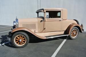 1929 Olds 3 window Coupe, Chevy Motor