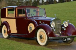 1938 Rolls Royce 25/30 Windovers Sedanca de Ville. Photo