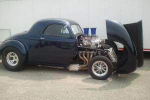 Real Steel Blown 548 850 HP. Willys Gasser Rat Hot Rod, No Plastic Kit Car Here!