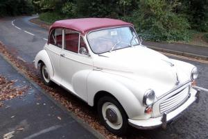 1967 MORRIS MINOR 1000 CONVERTIBLE WHITE