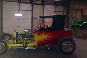 1923 Ford T Bucket, red with flames, good condition