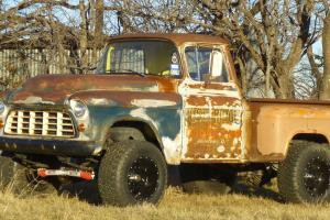 1955 Chevrolet 3100, 4x4, patina, ratrod, shop truck, z71, 3/4 ton, 2500 Photo