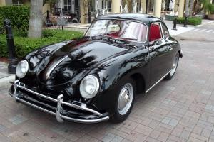 1959 PORSCHE 356 A COUPE, BLACK WITH RED, RESTORED CAR, SUPERB CONDITION!!! Photo