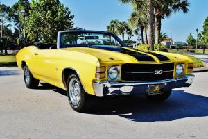 Stunning 1971 Chevrolet Chevelle SS Convertible tribute 350 bucket's console p.s