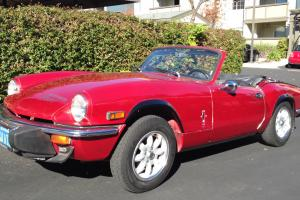1979 Red Triumph Spitfire 1500 Convertible Sports Car 1493cc EXTRAS Photo