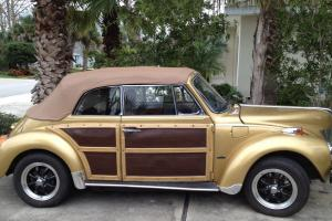 volkswagen convertible  ford  wood trim disc brakes  top tires