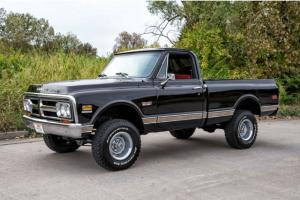 1972 GMC Sierra 1500 4x4, Short Bed, California Truck, Correct Black / Red