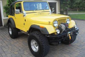 CJ7: 5.0L Engine, 5 Spd, 4x4, Lift, Winch, Stereo, Both Quick & Fun, $50k Build!