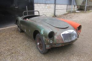 1958 MGA Roadster LHD roller project car to restore. Photo