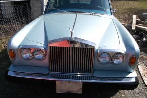 Light blue. Rolls Royce. 1976
