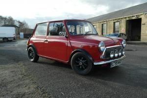 1990 ROVER MINI RACG FLAME CHECKMATE RED/WHITE 12 MONTHS MOT & TAX