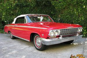 1962 Impala SS Convertible 409 Dual Quad 4-Speed Roman Red Power Top