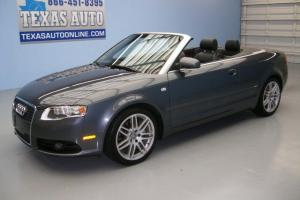 WE FINANCE!!!  2009 AUDI A4 2.0T CONVERTIBLE HEATED LEATHER NAV BOSE TEXAS AUTO Photo