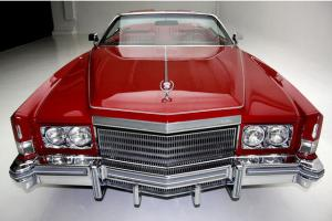 Dynasty Red 1974 Cadillac Eldorado Convertible With White Top,Gorgeous Red Leath