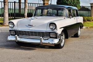 Spectacular just 16,245 miles 56 Chevrolet BelAir Wagon with power steering wow.