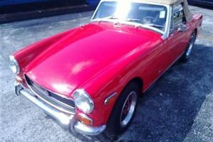 1972 MG CONVERTIBLE 4 SPEED CLEAN RESTORED FIVE YEARS AGO RUNS GREAT GOOD GAS MI Photo