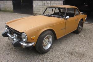 Triumph TR6 LHD Overdrive Car With Hardtop To Restore. Photo