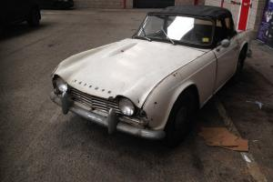 Triumph TR4 1964 True Barn Find Dry stored for 30 Years Ideal Project Solid Car Photo