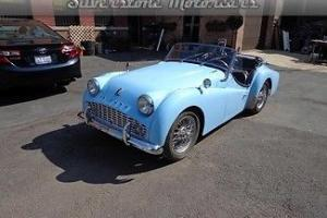 1960 Triumph TR3 Blue Clean Car Convertible British Sportscar New Interior Photo