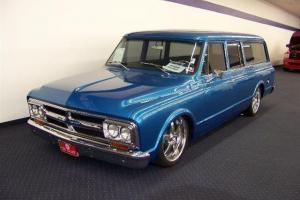 "GMC SUBURBAN 3 DOOR ROTISSERIE RESTORED 396 BIG BLOCK AIR RIDE 22"" WHEELS"