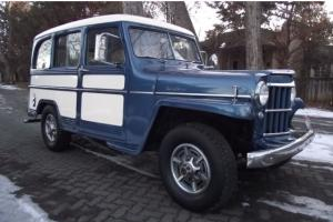 *** BEAUTIFUL TWO TONE BLUE AND WHITE 1959 WILLYS JEEP 4WD WAGON ***