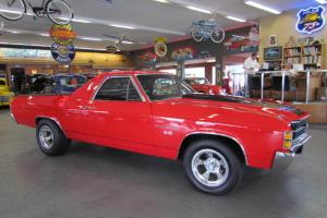 1971 Chevrolet El Camino SS LS-3 396/402 Matching Numbers 4 Speed Red on Black
