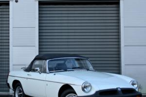 1977 MG B MGB Roadster White Classic Photo