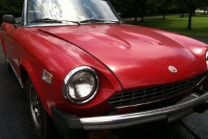 1978 Fiat 124 Spider Convertible with PA Antique Plates