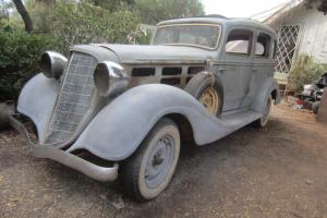 1934 Hudson 8 Cylinder 4 Door Sedan Dual Side Mount Spare Tires NOT Terraplane