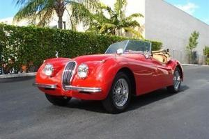 1954 JAGUAR XK 120 RARE CLASSIC RED FRAME OFF RESTO SHOW CAR Photo