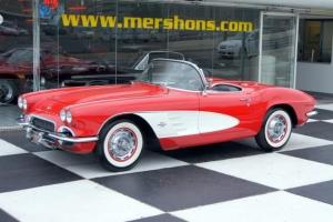 1961 Corvette Roadster Roman Red Numbers Match 4 Speed Photo