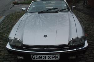 1990 JAGUAR XJ-S CONVERTIBLE AUTO SILVER Photo