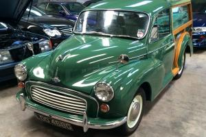 1968 MORRIS MINOR 1000 GREEN.. Woody..traveller..Mint classic car ready to show