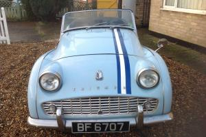RARE TRIUMPH TR3 B 1962 32000 miles UNRESTORED BARN FIND 1982 STORAGE NOW MOTd Photo
