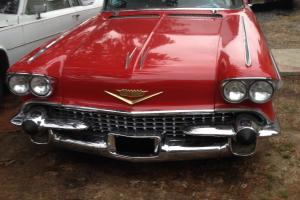 1958 Cadillac Series 62 2 Door Coupe Red And White!!!
