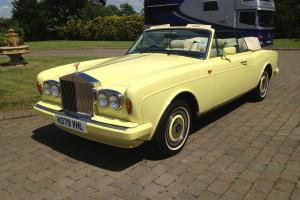 Possibly Unique Rolls Royce Corniche 111 Drophead in Chrome Yellow 16000 miles Photo